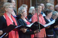 Kerkdienst met Gelegenheidskoor in Gereformeerde kerk Renkum