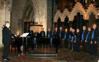 MIO mannenkoor, concert in kerkje Openluchtmuseum Arnhem
