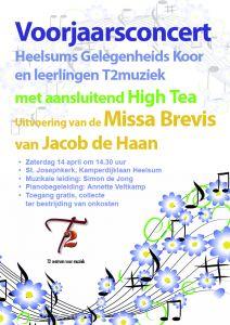 Zang en high tea in St. Josephkerk