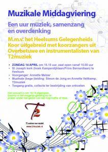 Muzikale zondagmiddagviering in St Josephkerk