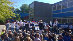 Geslaagde muziektour leerlingenorkest langs basisscholen