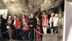 Simon als vrijwilliger naar Lourdes