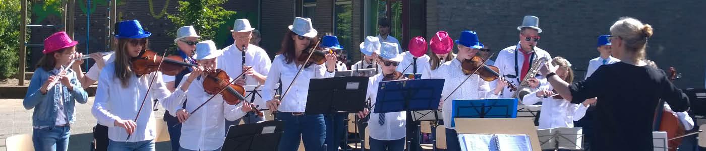 slider met leerlingenorkest